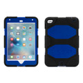 Griffin Survivor All-Terrain Heavy Duty Tough Case with removable stand and integrated screen protection - iPad Mini 4, Black/Blue