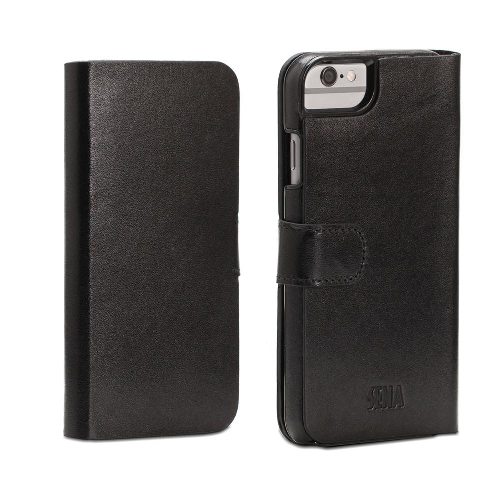 low priced f2d8b 3876a Sena Antorini - Genuine Leather Wallet case - iPhone 6 Plus/6s Plus, Black