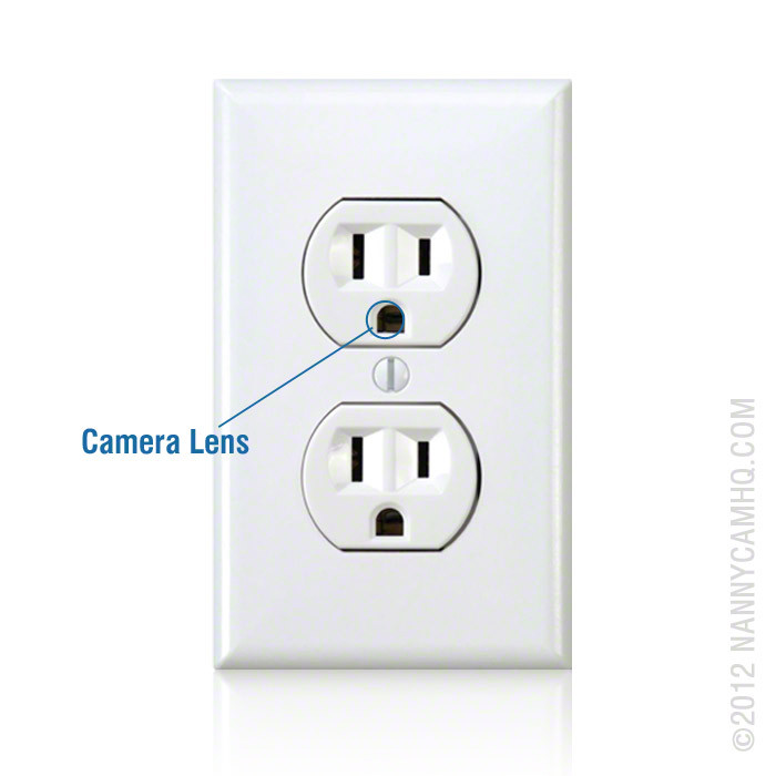Battery Powered Outlet >> Battery Powered Electrical Power Outlet Hidden Nanny Camera