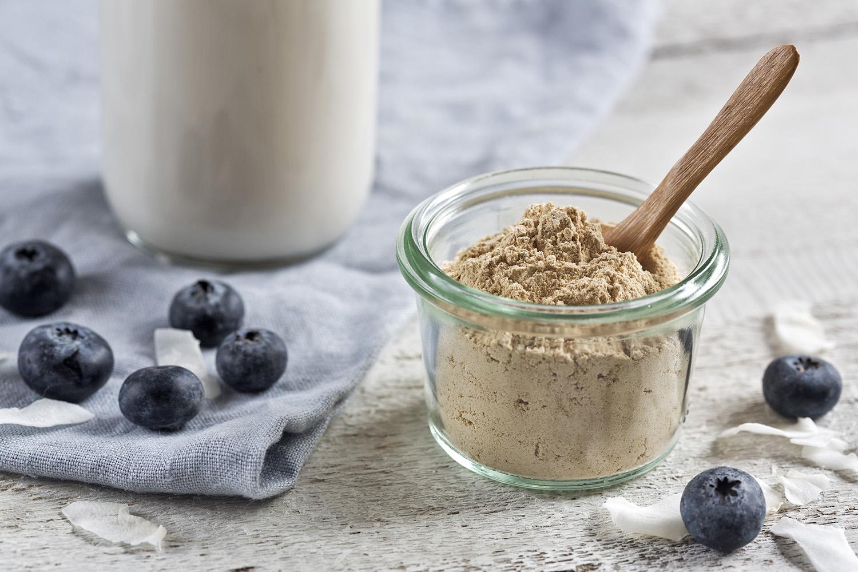 Black Maca Powder With Blueberries