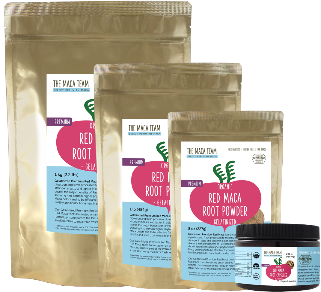 Gelatinized Red Maca Products