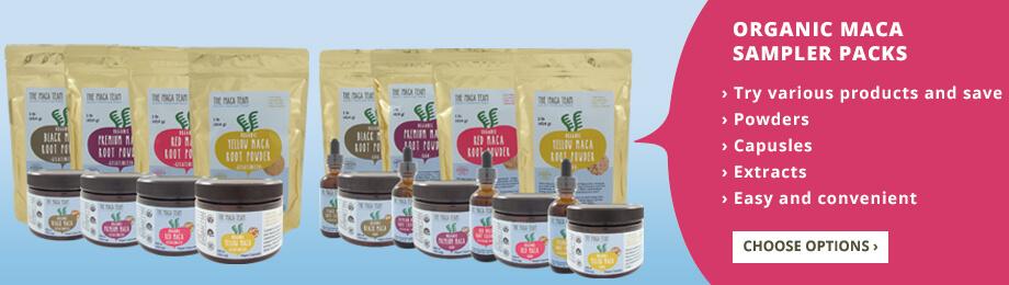organic maca samplers
