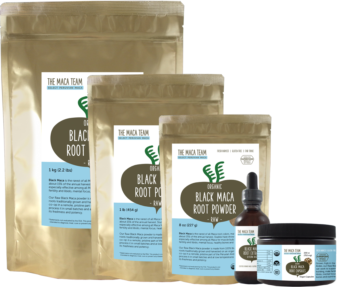 Raw Black Maca Products