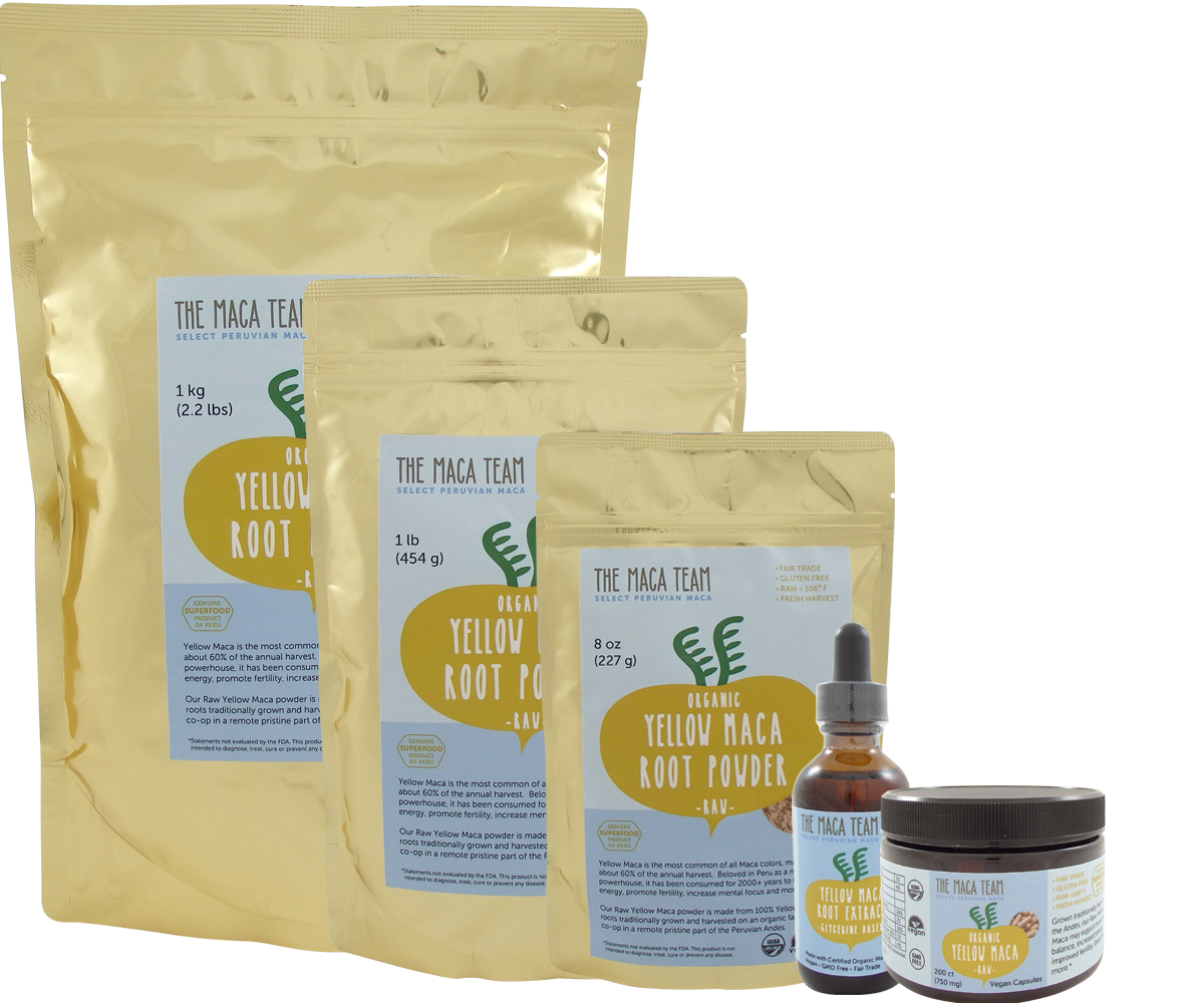 organic maca products