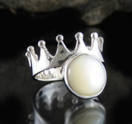 Mother of Pearl Sterling Silver Ring 2