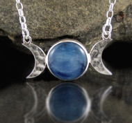 Blue Kyanite Moon Necklace 36