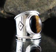 Tiger Eye Ring 16