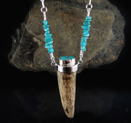 Deer Antler Turquoise Necklace 26