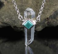 Quartz DT Turquoise Necklace 18