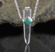 Quartz DT Turquoise Necklace 20