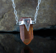 Tangarine Quartz Necklace 27