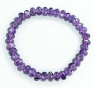 Amethyst Faceted Bracelet 22