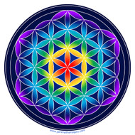 Jain 108 Flower of Life Decal & Sticker