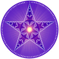 Jain 108 Fractal Pentacle Decal & Sticker