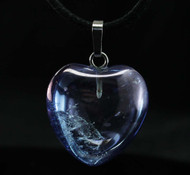 Tanzanite Aura Quartz Heart Pendant