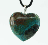 Chrysocolla Heart Pendant 3