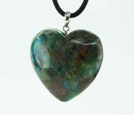 Chrysocolla Heart Pendant 6