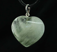Green Rutilated Quartz Heart Pendant 6