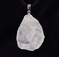 Rose Quartz Slice Pendant 4