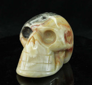 Crazy Lace Agate Skull 3