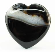 Black Agate Heart 4