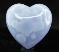 Blue Lace Agate Heart 12