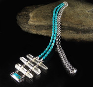 Turquoise DT Quartz Necklace 88
