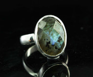 Labradorite Sterling Silver Ring 12