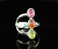 Multi Colour Tourmaline Ring 12
