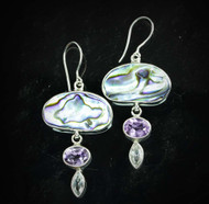 Paua Shell Amethyst Topaz Earrings 4