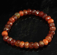 Carnelian Faceted Bracelet 12