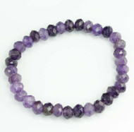 Amethyst Faceted Bracelet 21