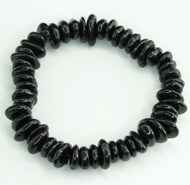 Black Tourmaline Chunky Chip Bracelet 23