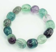 Rainbow Fluorite Chunky Pebble Bracelet 14