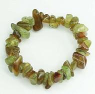 Green Tourmaline Chunky Chip Bracelet 9