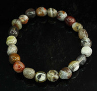 Crazy Lace Agate Pebble Bracelet 2