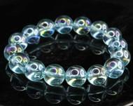 Aqua Aura Quartz Round Bracelet 9