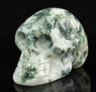 Moss Agate Skull 2