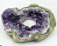 Amethyst Cluster Tealight Candle Holder 1