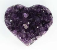 AAA+ Amethyst Cluster Heart 5