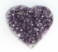 Amethyst Cluster Heart 6