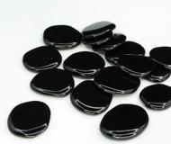 Black Obsidian Flat Stone Small