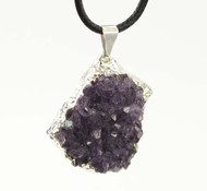 Amethyst Cluster Pendant 2