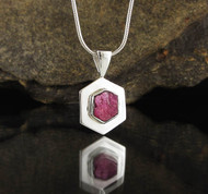 Ruby Sterling Silver Pendant 6