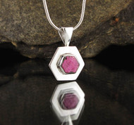 Ruby Sterling Silver Pendant 7