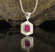 Ruby Sterling Silver Pendant 8