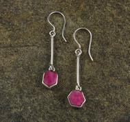 Ruby Sterling Silver Earrings 3