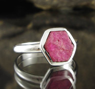 Ruby Sterling Silver Ring 8