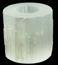 Large Selenite Tealight Candle Holder 1