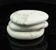 White Howlite Flat Stone 1